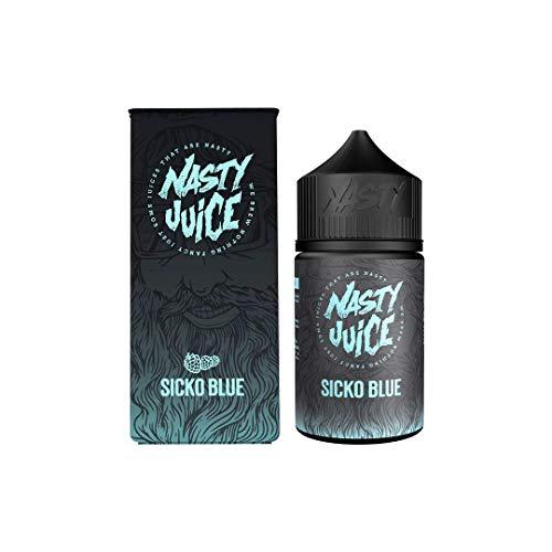 Nasty Juice Berry Series e Liquid Vape Sabores múltiples, 50ML 0MG 70VG 30PG - Sin nicotina (Sicko Blue)