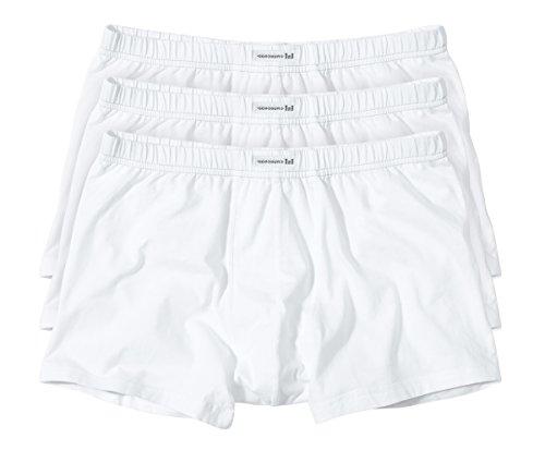 Götzburg Herren Pants, Unterhose - Baumwolle Single Jersey weiß, Uni, 3er Pack 8