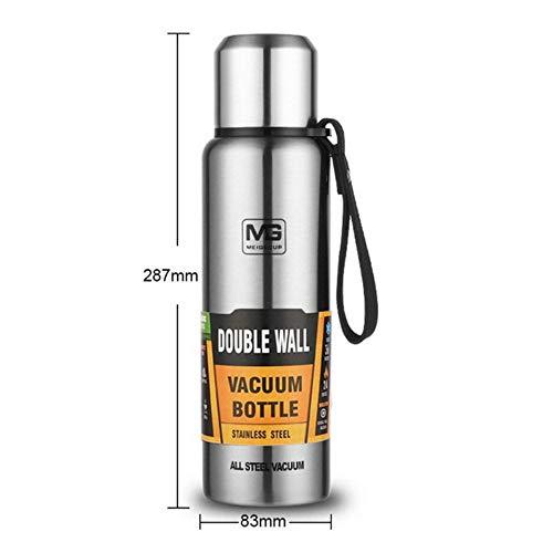 FISISISZ 500/750/1000/1500 ml Termo para té, 1 litro al Aire Libre, portátil, Gran Capacidad, Aislante, Estilo Militar, Botella al vacío, G231494B, Estados Unidos
