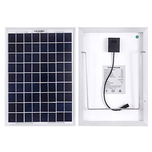 10W 12V Mono-Sonnenkollektoren für Autos, Wohnwagen, Camper, Boote-Mit einem 5m Krokodil Clip-Solarmodule mit Unterstützung