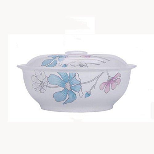 Xinguang Ceramica Rotonda da 9 Pollici Ceramica Creative Home Hotel Ciotola con Coperchio Grande zuppiera Ciotola zuppa