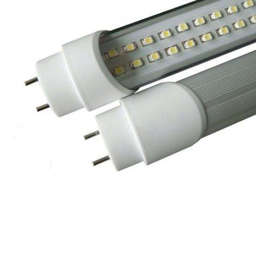 GRG Tubo Neon a LED SMD con attacco T8 da 90cm 15W luce fredda 6000-6500k e copertura trasparente, durata extra 50000 ore, corpo in alluminio. Tensione di lavoro 220V, non necessita di starter e reattore.