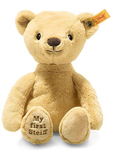Steiff Soft Cuddly Friends My First Teddybeer 26 cm knuffeldier voor babys - knuffelig & zacht wasbaar goudblond (242038), beige