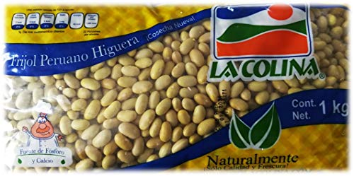 Helle Bohnen (Frijol Peruano Higuera 1kg)   Der authentische Geschmack Mexikos   Glutenfrei   Ohne Konservierungsstoffe   Vegane Hülsenfrüchte   sehr lecker   ähnlich wie weiße Bohnen