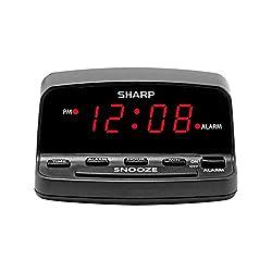 SHARP Digital Alarm Clock with Keyboard Style Controls