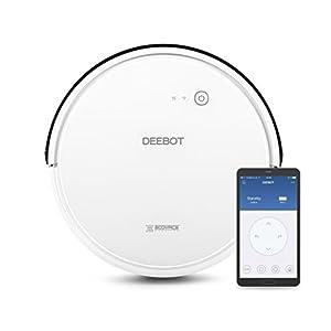 Ecovacs Deebot 600 – Robot Aspirador 4 en 1: barre, aspira, pasa mopa y friega, navegación inteligente, App, Wifi, 4 modos de limpieza, 2 niveles de succión, suelo duro, detecta obstáculos, blanco
