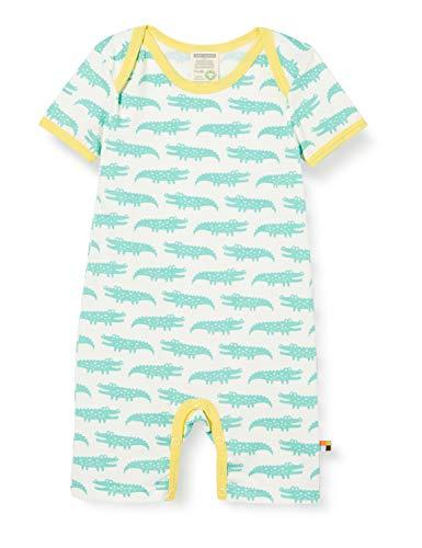 loud + proud Baby-Mädchen Short Romper Allover Print Organic Cotton Strampler, Grün (Mint Min), (Herstellergröße: 62/68)