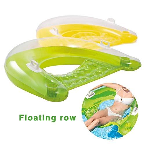 Saddpa Opblaasbare zwembadset, maan, voor volwassenen, milieuvriendelijk, niet-giftig, veilig zwembad, waterbed, zitje A