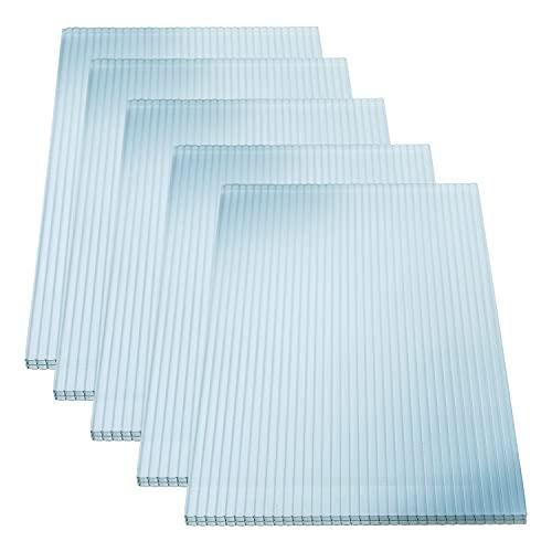 KAISER plastic® Planchas alveolares dobles 16/20 | Xtra Strong (PC) | 98 cm de ancho x 300 cm de longitud | 5 unidades | color: transparente y con protección UV