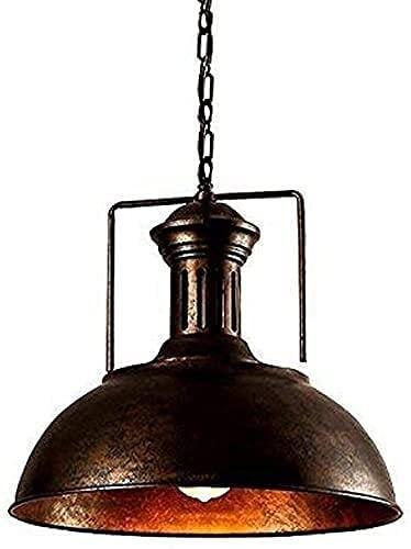 Dkdnjsk Lámpara de araña 1-luces iluminación interior de la iluminación industrial colgante de la luz vintage vintage labrado hierro de hierro araña araña fijado en antiguo cobre acabado restaurante c