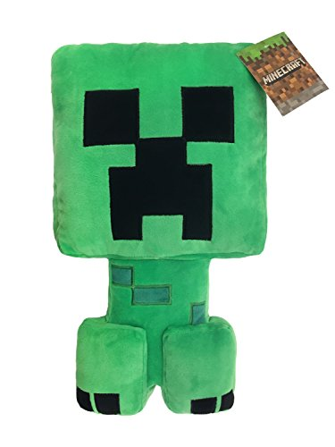 Jay Franco Minecraft Plush Stuffed Creeper Pillow Buddy - Super Soft Polyester Microfiber, Measures 16 inches x 8 inches (Official Minecraft Product)