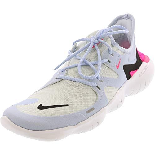 Nike Damen WMNS Free Rn 5.0 Leichtathletikschuhe, Mehrfarbig (White/Black/Half Blue/Hyper Pink 000), 39 EU