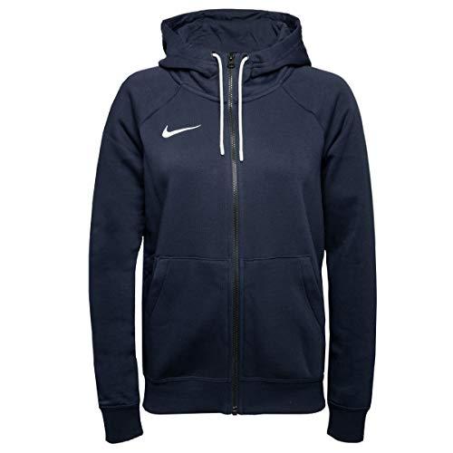 Nike Felpa da Donna W Nk FLC Park20 FZ con Cappuccio, Blu Navy, S