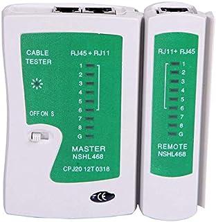 CamKpell Tester per Cavi di Rete LAN Test Rj45 Rj-11 Cat5 Utp Ethernet Tool Cat5 6 E Rj11 8P Tester per Cavi di Rete Porta...