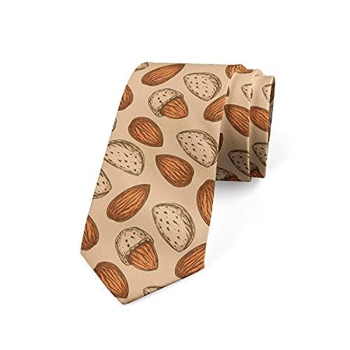 Corbatas de Hombre, Longitud estndar, Corbata de Moda para Hombres, Corbata de Lujo para Bodas, Negocios Formales, Fiesta de Graduacin (Patrn de almendra)-8x145cm
