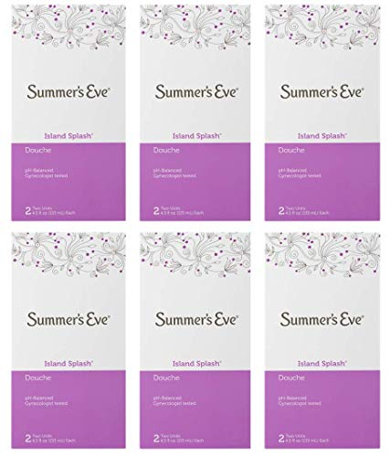 Summer's Eve Douche   Island Splash   2-4.5 oz   Pack of 6   pH Balanced & Gynecologist Tested
