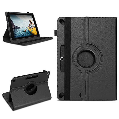 NAmobile Tablet Schutzhülle kompatibel für Medion Lifetab X10311 X10302 P10400 aus Kunst-Leder Hülle Universal Tasche Standfunktion 360 Drehbar, Farben:Schwarz