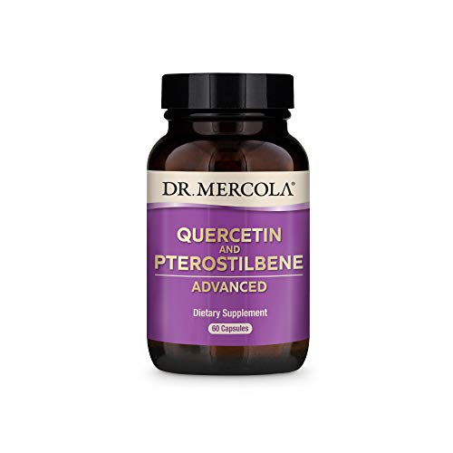 Dr. Mercola Quercetin & Pterostilbene Advanced Dietary Supplement, 30 Servings (60 Capsules), Supports Lung and Immune Health*, Non GMO, Soy Free, Gluten Free