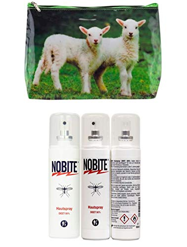 NOBITE Hautspray, Sparpack, Doppelpack, 2 x 100 ml in schöner gratis Waschtasche von Tigapaw ®