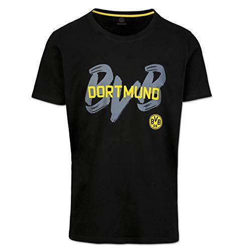 Borussia Dortmund Herren T-shirt Bvb-kollektion T-shirt, schwarz, L