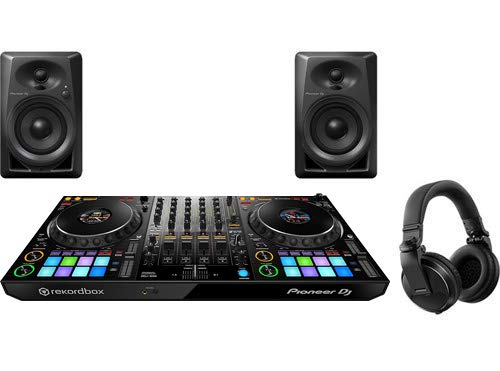 Pioneer Pro DJ Bundle with DDJ-1000 + DM-40 Set + HDJ-X5 Headphones