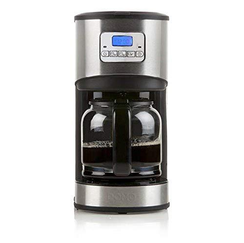 Domo Programmierbare Kaffeemaschine Edelstahl gebürstet