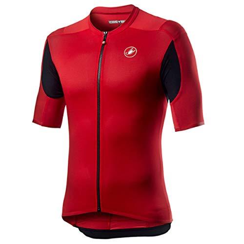 CASTELLI Superligera 2 - Camiseta para Hombre, Hombre, Camiseta, 4520017, Rojo, S