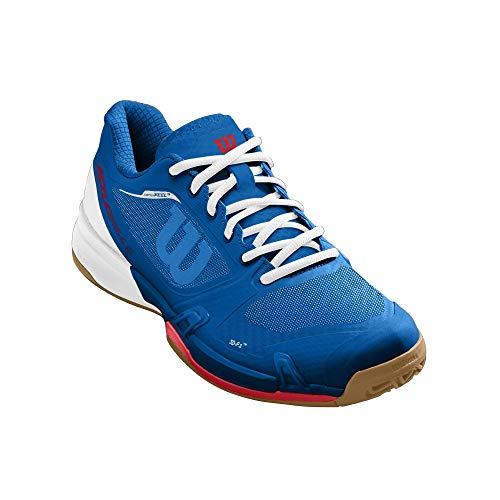 Wilson mens Rush Pro 2.5 Pickleball Racquetball Shoe, Blue/White/Red, 9.5 US