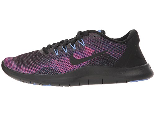 Nike Women's WMNS Flex 2018 RN Running Shoes, Multicoloured Black Pulse/Deep Royal Blue 003 4.5 UK