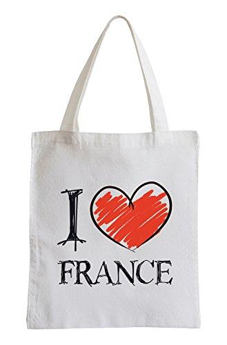 I love France Fun sac de jute