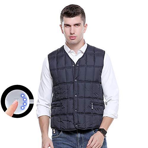 SHENGY Middelgrote en oude USB-beveiliging intelligente thermostaat elektrisch vest drie verwarmingsmodi hoogwaardige outdoorkleding voor heren