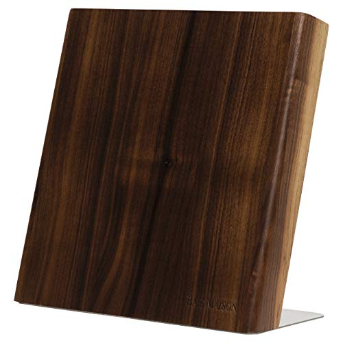 Magnetic Knife Holder - Stylish American Walnut Knife Block WITHOUT KNIVES with Strong Magnets - Kitchen Magnetic Knife Holder Protects Your Knives - Ideal Kitchen Knife Storage Organizer Block