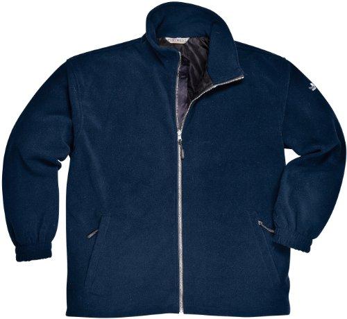 Fleece Jacke Winddicht Gefüttert Reißverschluss Taschen Innentasche Pillingfrei Keine Knötchenbildung - S, Marineblau