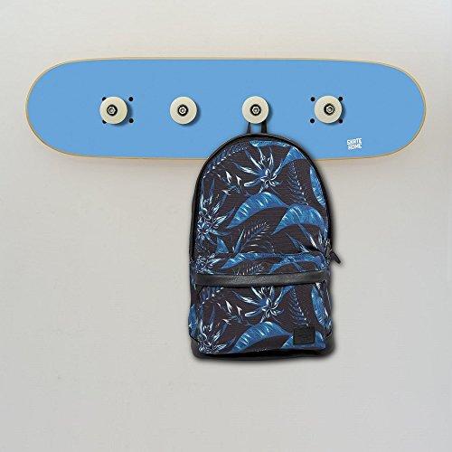Perchero para Regalar a un Apasionado del Skate, Decoración Skater, Azul