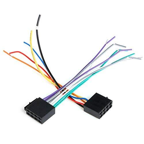 CCIIO Universal-Buchse ISO-Kabelbaum Autoradio-Adapterstecker Kabelstecker-Kit