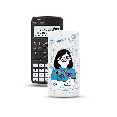 Casio FX-991SPXII Iberia - Calculadora científica con ilustración de Jess Wade en la tapa, (576 funciones, 12 dígitos, SOLAR), color negro y blanco