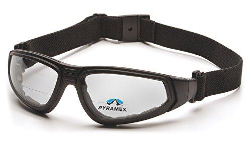 Pyramex XSG Reader Safety Glasses, Black Frame/Clear Anti-Fog + 2.0 Lens