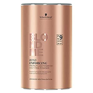 Schwarzkopf BlondMe Bond Enforcing Premium Lightener 9+ Dust Free Powder, Tinte Capilar 9 Niveles, 450 gr