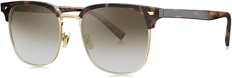 LIUXIN D型プレートメタルサングラス男性用偏光サングラスマルチカラーオプション サングラス (Color : E)