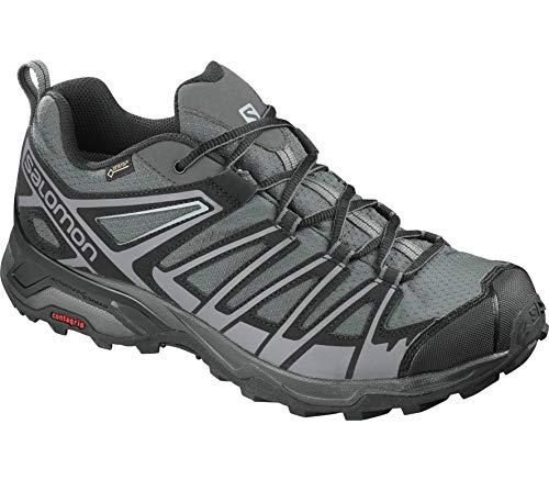 SALOMON X Ultra 3 Prime GTX Gore-Tex Zapatos Excursión Hombre, Magnet/Negro/Quiet Shade - Gris, 42