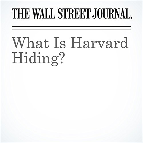 What Is Harvard Hiding? copertina