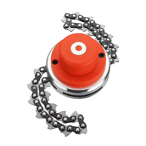 Ineedtech 65Mn Coil Chain Trimmer Head, Weed Eater Head for Straight Shafts Garden Pole Trimmer Tools & Brush Cutter Chain Mower & Lawn Mower & Outdoor Grass Trimmer