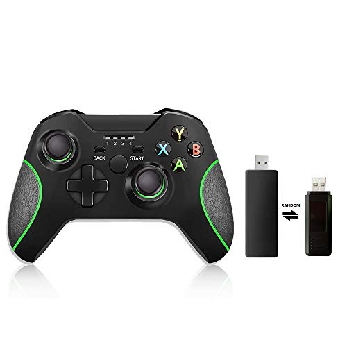 Wireless Xbox One Controller Game Controller for Xbox one/Xbox one S/Xbox one X Wireless Controller PC Controller Pro Game Controller for Xbox and PC (with No Audio Jack) 2 Random USB Receiver