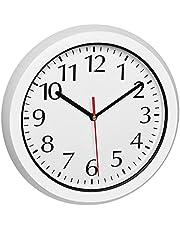 TFA Dostmann Reloj de Pared para Exterior, 60.3542.02, radiocontrolado a Distancia, Resistente a la Intemperie, con Cubierta de Cristal, Color Blanco, 305 x 56 x 305 mm