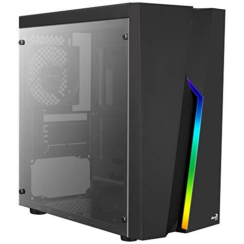 Aerocool BOLT MINI, PC MicroATX Box, Seitenfenster, RGB 13, 12cm Lüfter