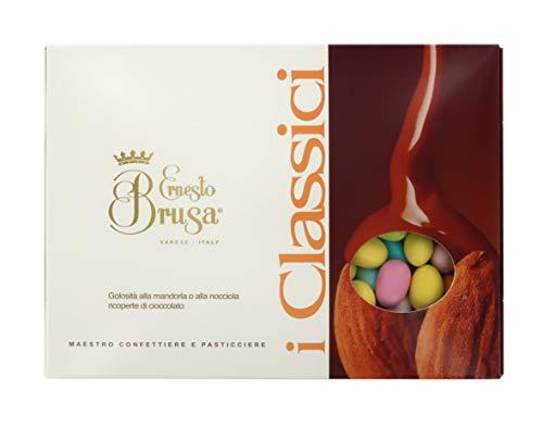 Ernesto Brusa Confetti con Mandorla tostata ricoperta di Cioccolato al Latte, Colori Assortiti - Linea I Classici - 1 kg