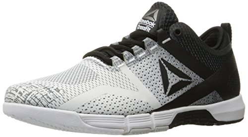 Reebok Women's CROSSFIT Grace Tr Cross Trainer, White/Black/Skull Grey/Pw, 8.5 M US
