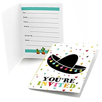 Let s Fiesta - Fill In Mexican Fiesta Party Invitations  8 count