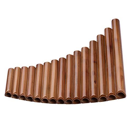 Flauta de pan 15 Pipas Pan Flauta G Key Pan Pipes Natural Bamboo Panpipes Instrumento De Viento De Madera Tradicional Chino Con Bolsa De Transporte