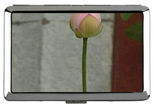 Yanteng Zen Lotus Flower Floral Cigarette Box Case-Lotus Business Card Holder